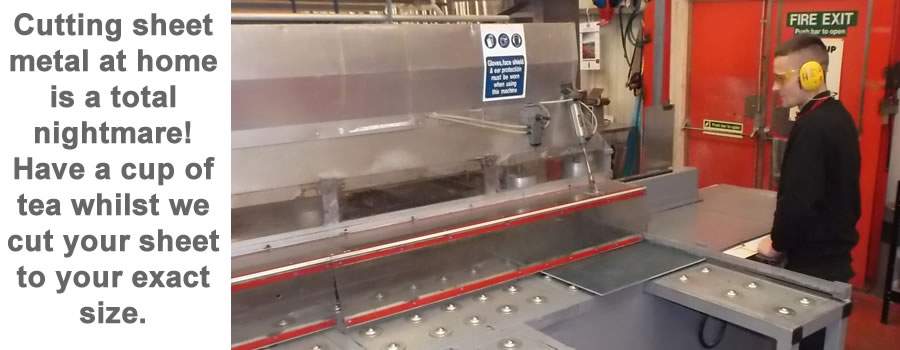 Cutting sheet metal